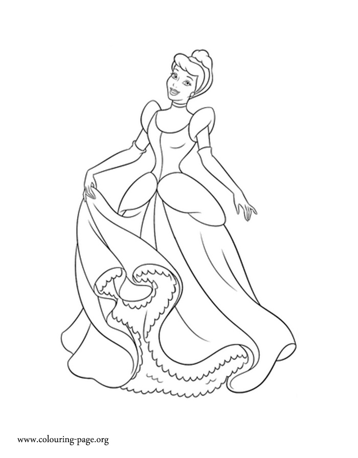 princess cinderella coloring page
