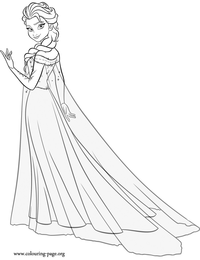 Frozen fever frozen fever coloring page for Coloring pages elsa