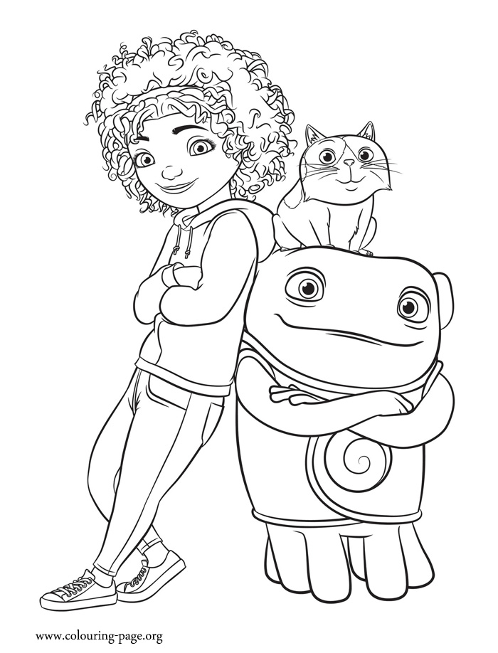Tip, Pig And Oh Coloring Page