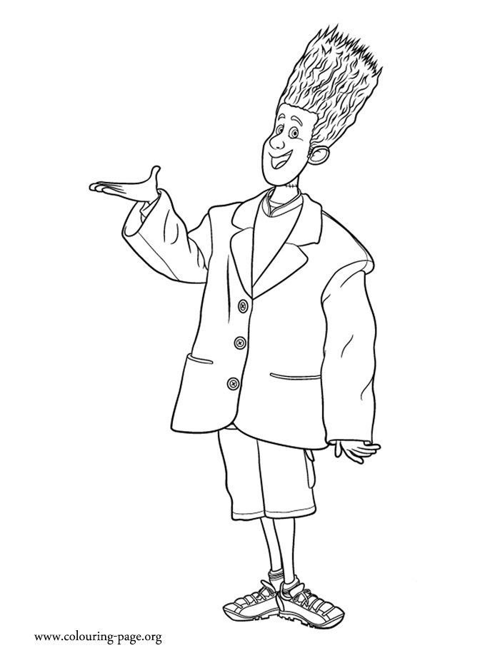 Johnnystein coloring page