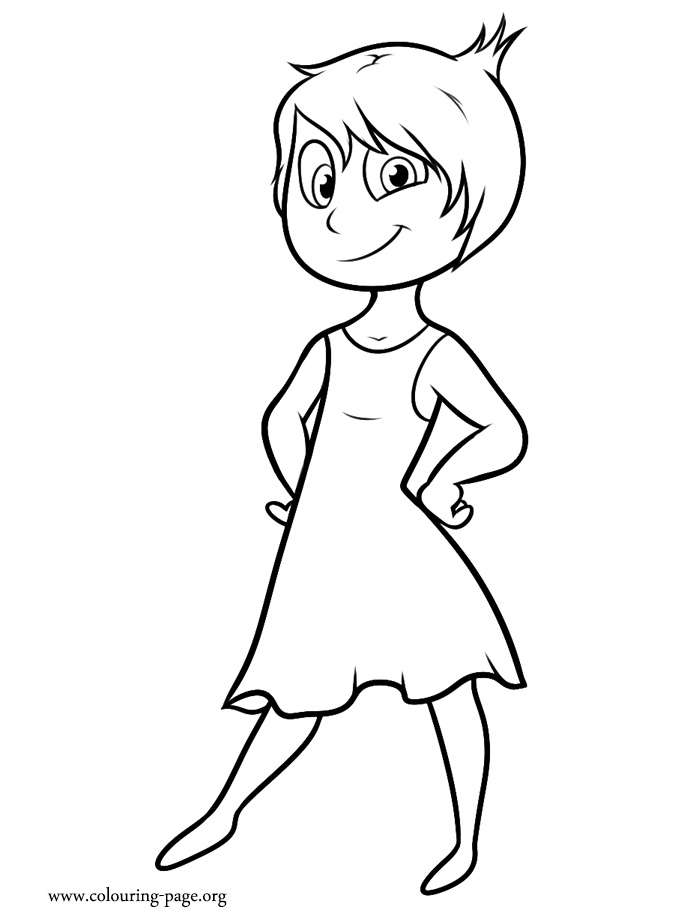 Inside Out - Joy coloring page