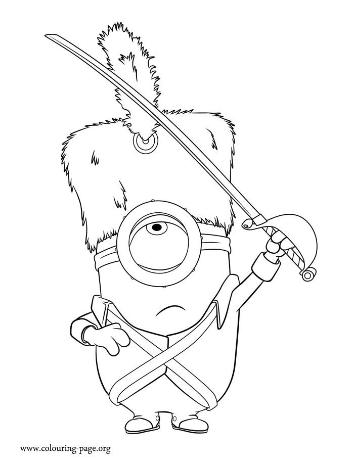 Free Coloring Pages Of Minion Stuart