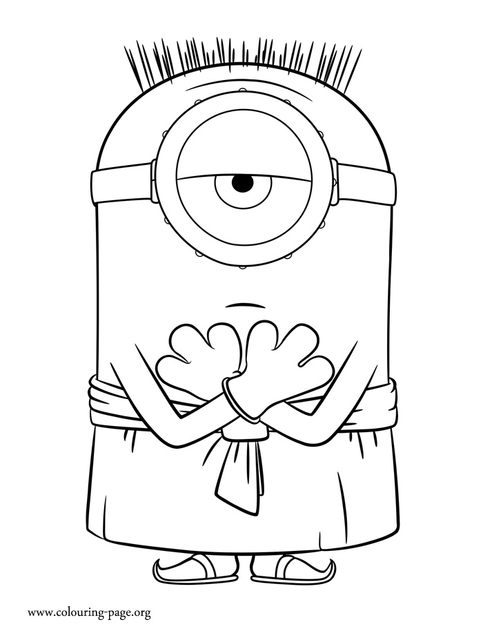 Free Coloring Pages Of Jerry Minion