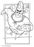 Patrick Star as Mr. Superawesomeness