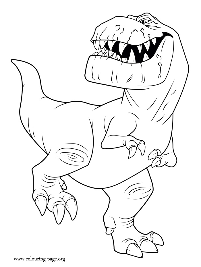 the dinosaur butch coloring page