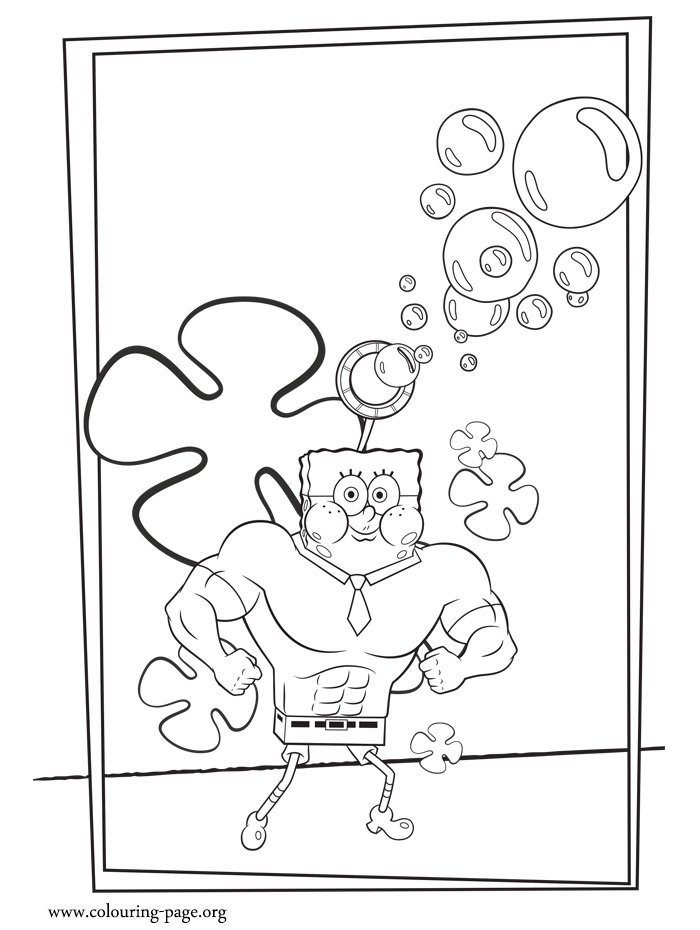 SpongeBob SquarePants as Invincibubble coloring page