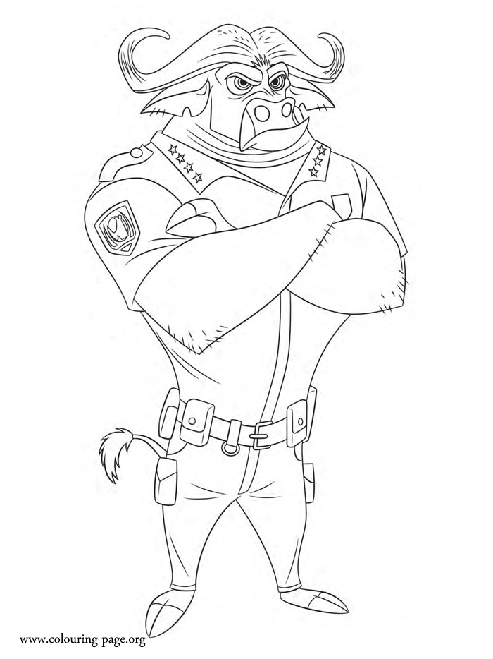Chief Bogo Coloring Page