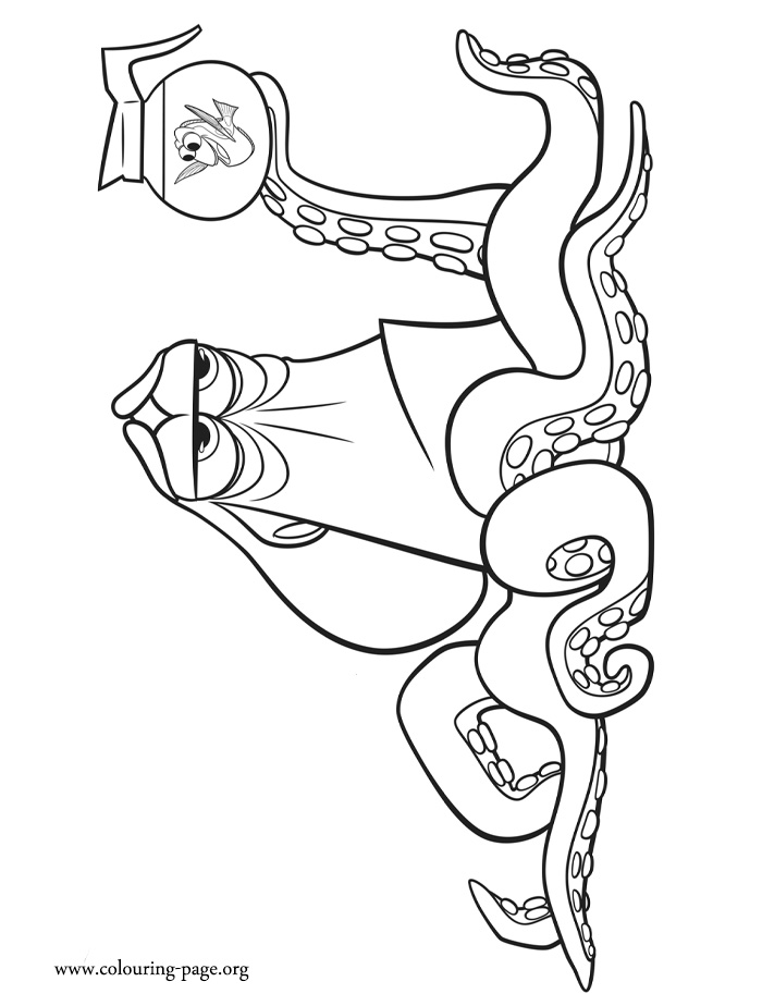 Hank and Dory coloring page