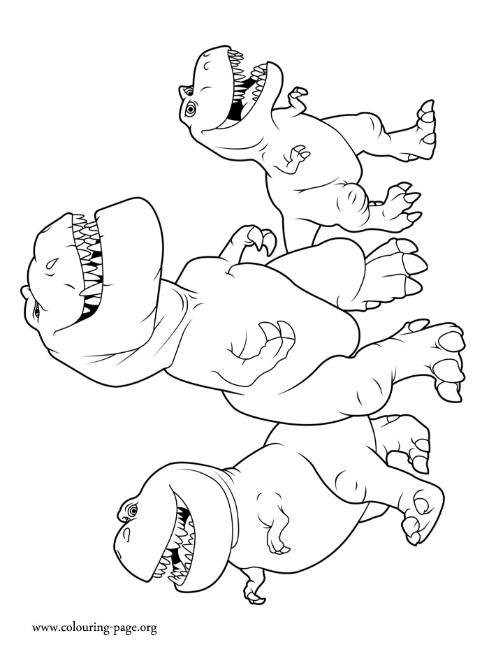 Nash, Butch and Ramsey coloring page