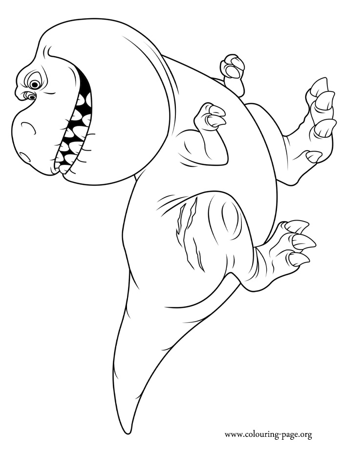 Nash, a Tyrannosaurus Rex coloring page
